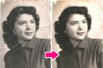 Reprodukcja mocno uszkodzonego zdjęcia